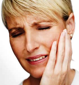 Photo illustrating TMJ pain