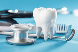 Dental Care Graphic with Tooth
